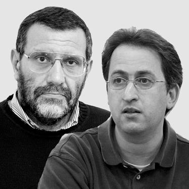 גיא רולניק (מימין) ודייוויד לנדאו