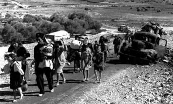 פליטים ערבים ב-48' (צלם לא ידוע)