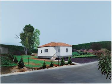 בית במושב, 150*200, אקריליק על בד. 2008