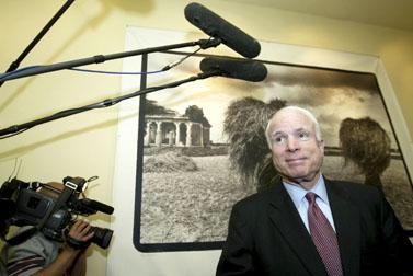 מלמעלה: המועמדים לנשיאות ארצות-הברית ברק אובמה וג'ון מקיין (צילום: פלאש 90)