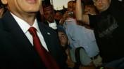 שר התחבורה שאול מופז אתמול, במסיבת עיתונאים בירושלים (צילום: אוליבייה פיטוסי)