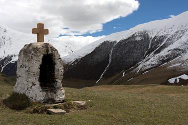 נוף גיאורגי בהרי הקווקז (צילום: דורון הורוביץ)
