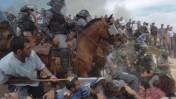 עימות בעת פינוי מצפה יצהר, מאי 2004 (פלאש 90)