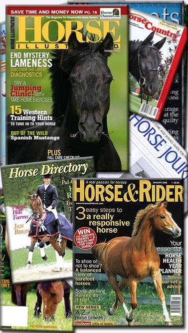 """כתבי-עת שעניינם סוסים, כולל ה""""Horse Illustrated"""""""
