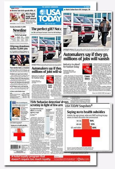 """סקר בענייני בריאות על שער ה""""USA Today"""""""