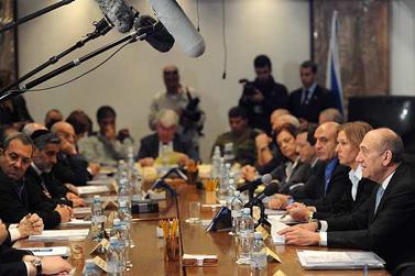 ישיבת הקבינט, 4 בינואר 2008 (צילום: עמוס בן-גרשום)