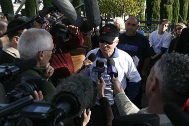 נועם שליט מוסר הודעה לתקשורת, 17 במרץ (צילום: פלאש 90)