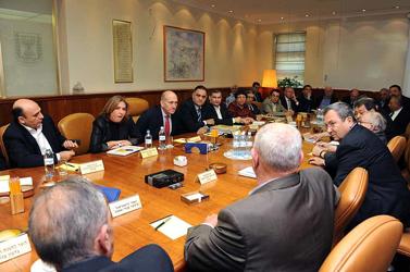 """ישיבת הקבינט ב-17 במרץ (צילום: משה מילנר; לע""""מ)"""