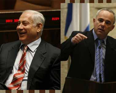 ראש הממשלה נתניהו (משמאל) ושר האוצר שטייניץ, בשבוע שעבר בכנסת (צילומים: פלאש 90)