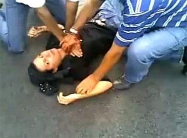 רגע הירייה ונסיונות ההחייאה (מתוך הסרטון ביוטיוב)