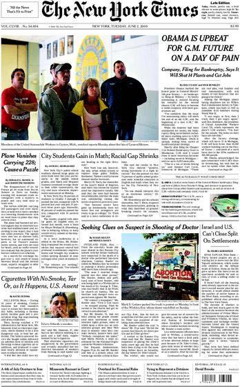 """שער ה""""ניו יורק טיימס"""" מה-2.6"""