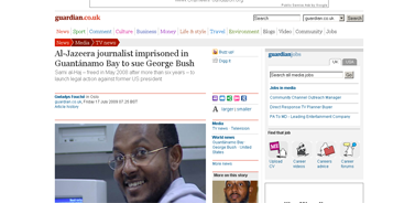 Al-Jazeera journalist imprisoned in Guantánamo Bay to sue George Bush  Media  guardian.co.uk