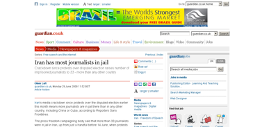 Iran has most journalists in jail  Media  guardian.co.uk