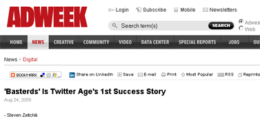 'Basterds' Is Twitter Age's 1st Success Story (1)