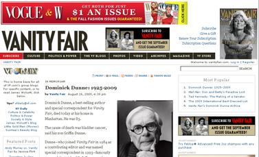 Dominick Dunne- 1925-2009- Vanity Fair  Vanity Fair