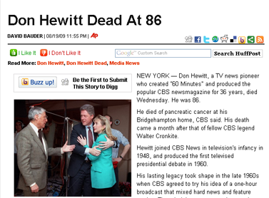 Don Hewitt Dead At 86