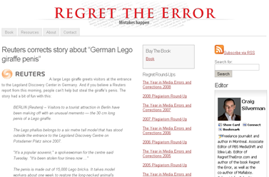 """Reuters corrects story about """"German Lego giraffe penis""""  Regret the Error"""