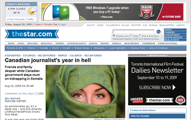 TheStar.com  Canada  Canadian journalist's year in hell