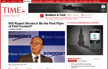 Will Rupert Murdoch Lead Way for Paid Online Content - TIME