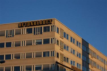 """בניין מערכת """"אפטון-בלאדט"""" בשטוקהולם (צילום: bengt-res, רשיון cc)"""