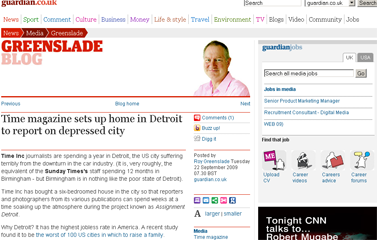 Roy Greenslade- Time magazine sets up home in Detroit  Media  guardian.co.uk