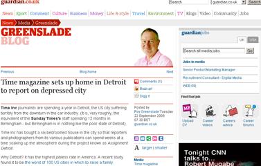 Roy Greenslade- Time magazine sets up home in Detroit  Media  guardian.co.uk