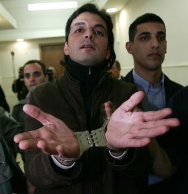 חאדר שאהין בבית-המשפט המחוזי בירושלים. 13.1.09 (צילום: קובי גדעון)