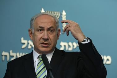 ראש הממשלה בנימין נתניהו נואם שלשום בירושלים עם היוודע דבר קבלתה של ישראל ל-OECD (צילום: קובי גדעון)