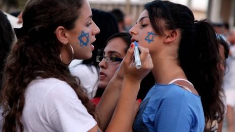 הפגנת תמיכה בישראל, אשקלון 6.6.10 (צילום: אדי ישראל. לחצו להגדלה)