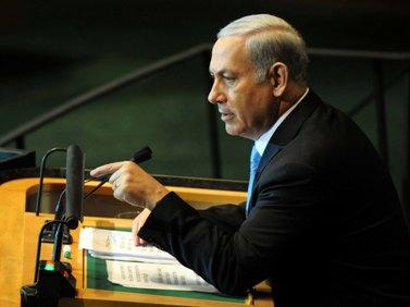 """ראש הממשלה בנימין נתניהו נואם באו""""ם, 23.9.11 (צילום: אבי אוחיון, לע""""מ)"""