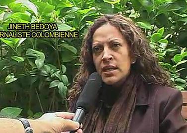 """העיתונאית חינס בדויה, בראיון לכתב """"אל-פאיס"""" ב-2009"""
