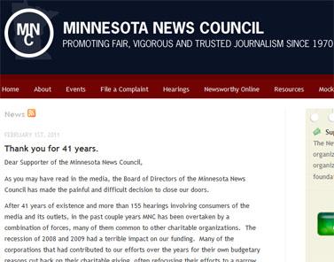 """""""תודה על 41 שנה"""". מתוך אתר מועצת העיתונות של מינסוטה"""