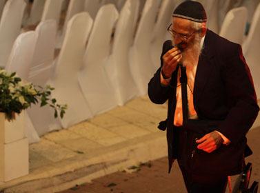 הרב שלמה אבינר בחתונת בנו של הרב מוטי אלון. אוקטובר 2010 (צילום ארכיון)