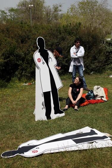 הפגנת הרופאים, אתמול בירושלים (צילום: ליאור מזרחי)