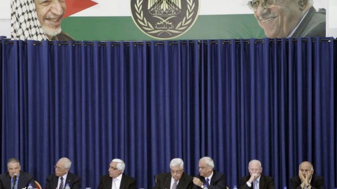 בכירי הרשות הפלסטינית במפגש אתמול ברמאללה עם אנשי התאגדות השמאל ישראל-יוזמת (צילום: אורן נחשון)