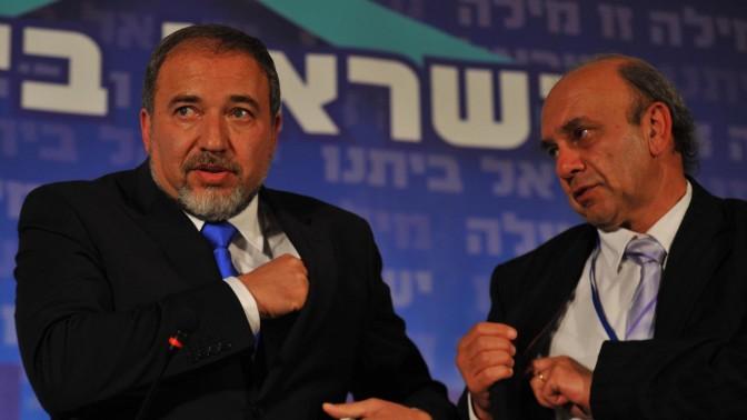 שר החוץ אביגדור ליברמן, אתמול בכינוס של מפלגת ישראל-ביתנו (צילום: יואב ארי דודקביץ')