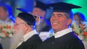 """הרמטכ""""ל לשעבר גבי אשכנזי, אתמול בטקס קבלת דוקטור של כבוד באוניברסיטת בר-אילן (צילום: יהושע יוסף)"""