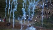 מפגינים על גבול ישראל–סוריה, אתמול (צילום: ליאור מזרחי)