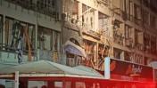 הבניין בנתניה, לאחר פיצוץ הגז (צילום: יהושע יוסף)