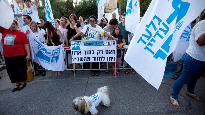 הפגנה למען שליט, אתמול בירושלים (צילום: דוד ועקנין)