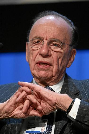 רופרט מרדוק, הפורום הכלכלי העולמי בדבוס, 2007 (צילום: הפורום הכלכלי העולמי, רישיון cc)