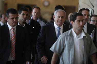 ראש הממשלה בנימין נתניהו, אתמול בכנסת (צילום: ליאור מזרחי)