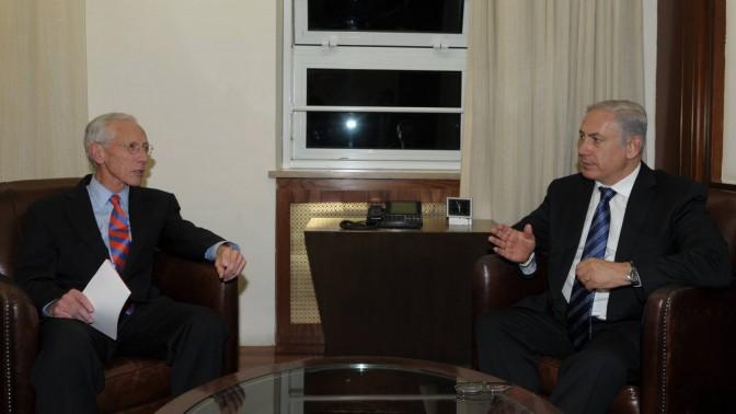 """בנימין נתניהו, ראש ממשלת ישראל, וסטנלי פישר, נגיד בנק ישראל, אתמול (צילום: עמוס בן-גרשום, לע""""מ)"""