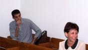 """ליאורה גלט-ברקוביץ' וברוך קרא, היום באולם בית-המשפט בתל-אביב (צילום: """"העין השביעית"""")"""