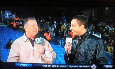 דני נוימן (משמאל) בערוץ 1 (צילום מסך)