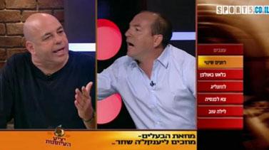אייל ברקוביץ' ורון קופמן בערוץ הספורט (צילום מסך)