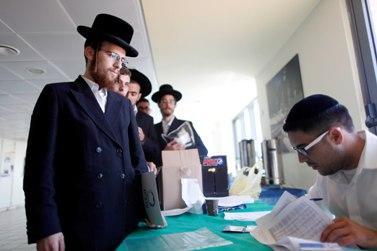 חרדים בכנס שירות לאומי, אתמול בירושלים (צילום: ליאור מזרחי)