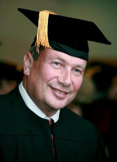 נוחי דנקנר, בעת קבלת תואר דוקטור של כבוד מאוניברסיטת בר-אילן, 15.05.2007 (צילום ארכיון: משה שי)