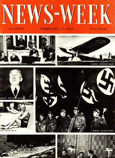 """הגיליון הראשון של """"ניוזוויק"""", 17.2.1933"""