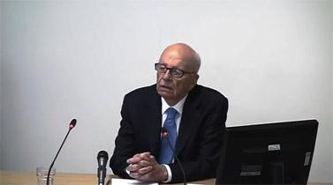 איל העיתונות רופרט מרדוק מעיד בפני ועדת לווסון (צילום מסך)